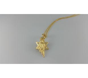 שרשרת גולדפילד זהב  24 קראט מגן דוד שומר על ארץ ישראל