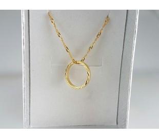 שרשרת גולדפילד זהב 24 קראט טבעת