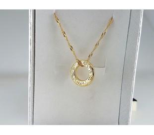 שרשרת גולדפילד זהב 24 קראט טבעת אהבה