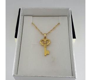 שרשרת גולדפילד זהב 24 קראט מפתח הלב