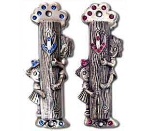 Tree of Life Mezuzah Kids