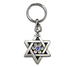 Key chain,design Star of David possibility of adding logo and caption