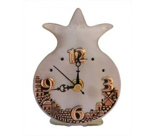Pomegranate design Desk clock