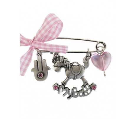 A baby carriage pin design rocking horse