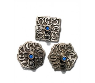 A set of Three Filigree Dreidels