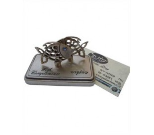 fish business card stand