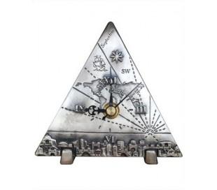 שעון משולש שולחני בעיצוב גלובוס וירושלים