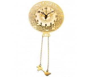 שעון עגול בעיצוב ירושלים