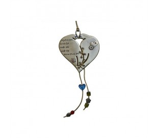 Heart design pendant and doves
