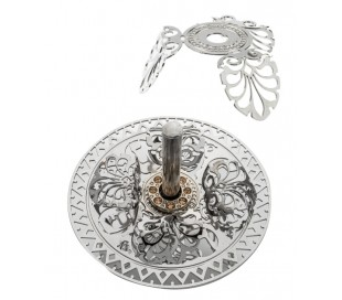 plated Filigree Dreidel with stones