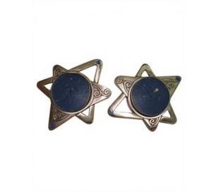 פמוטים בעיצוב מגן דוד מעוטרים