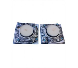 Square Jerusalem Candle holders