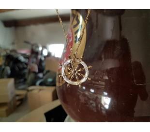 שרשרת גולדפילד 24 קראט בצורת הגה של ספינה