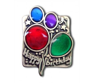 Colorful balloons Magnet antique silver plated