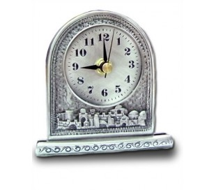 Country style table clock and Jerusalem