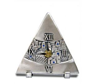 שעון משולש שולחני בעיצוב ירושלים
